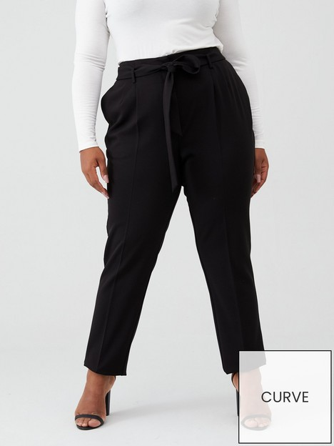 v-by-very-curve-valuenbsptie-waist-tapered-trouser-black