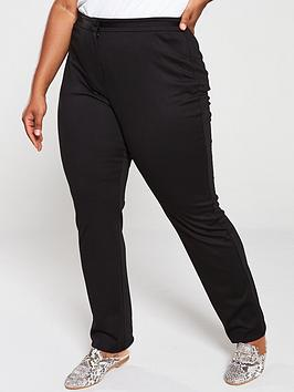 V by Very Curve V By Very Curve Slim Leg Stretch Trouser - Black Picture