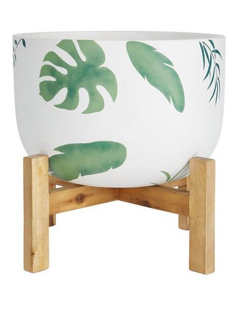 leaf-print-pot-on-wooden-legs