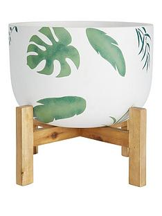 leaf-print-pot-on-wooden-legs