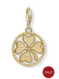 thomas-sabo-thomas-sabo-gold-plated-lucky-clover-charm