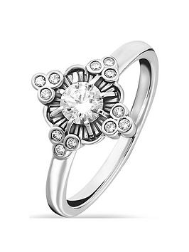 Thomas Sabo Thomas Sabo Sterling Silver &Amp; Cubic Zirconia Ring Picture