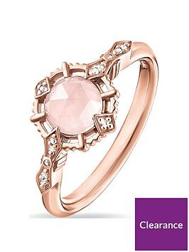 thomas-sabo-rose-gold-gemstone-solitaire-ring