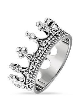 Thomas Sabo Thomas Sabo Sterling Silver Crown Ring Picture
