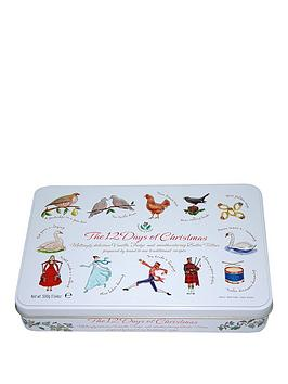 Compare retail prices of 12 Days Of Christmas Large Square Tin Filled With Assorted Biscuits 400G to get the best deal online