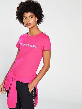 calvin-klein-jeans-institutional-logo-t-shirt-pink
