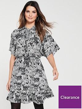 v-by-very-tie-neck-tea-dress