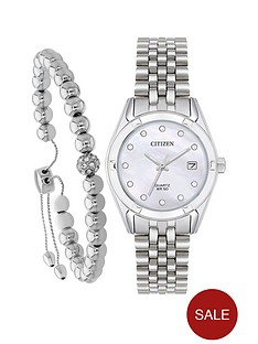 citizen-citizen-swarovski-crystal-mother-of-pearl-dial-stainless-steel-bracelet-ladies-gift-set