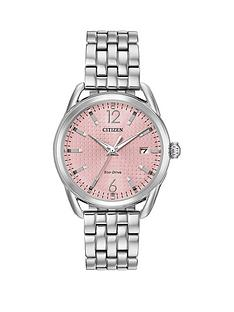 citizen-citizen-eco-drive-ltr-collection-pink-patterned-dial-stainless-steel-bracelet-ladies-watch