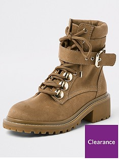 river-island-chunky-lace-up-boot-beige