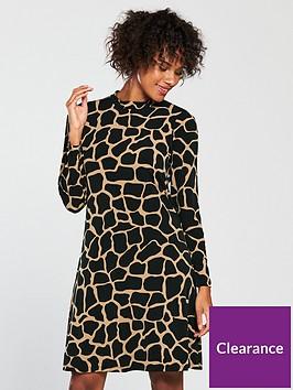 wallis-swing-dress-giraffe-print