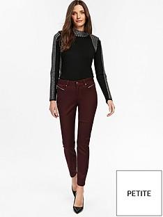 wallis-petite-tinseltown-skinny-trouser-berry