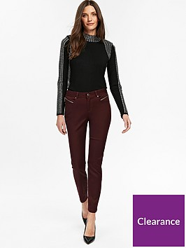 wallis-petite-tinseltown-skinny-trouser-berry