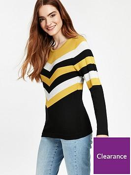 wallis-petite-chervon-knitted-jumper
