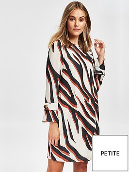 wallis-petite-zebra-dress