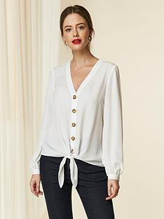 wallis-button-tie-front-shirt-ivory