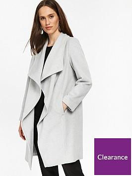 wallis-petite-waterfall-coat-grey