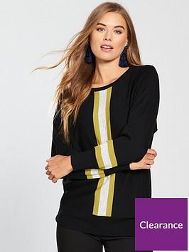 wallis-vertical-stripe-jumper-black