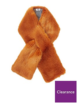 river-island-faux-fur-scarf-rust