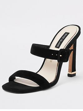 river-island-river-island-suede-double-strap-heel-sandals-black