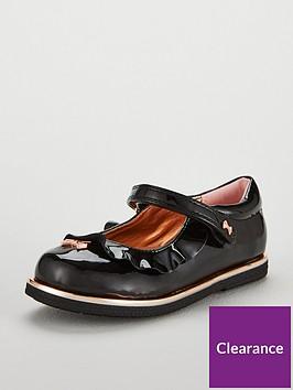 b02b192e4cb4c0 Baker by Ted Baker Girls Younger Frill Ballerina Shoes - Black ...