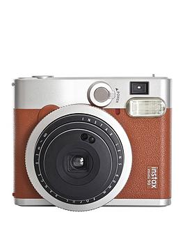 fujifilm-instax-instax-mini-90-instant-camera-with-optional-10-or-30-pack-of-paper-brown