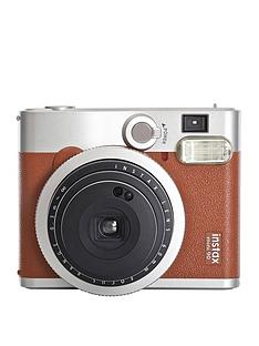fujifilm-instax-mini-90-instant-camera-with-optional-10-or-30-pack-of-paper-brown