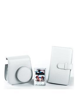 Fujifilm Instax   Instax Mini 9 Accessory Kit - Case, Album And Photo Frame - Smoky White