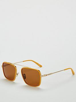 Calvin Klein Calvin Klein Square Brow Bar Maize Sunglasses Picture