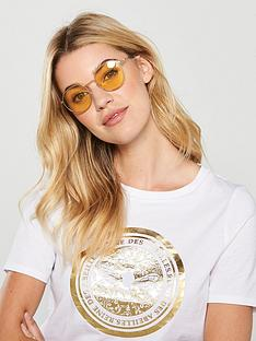 calvin-klein-round-maize-sunglasses