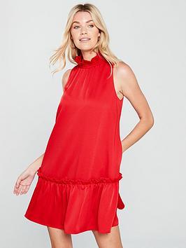 ted-baker-high-neck-dress-red