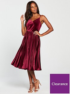 ted-baker-khim-velvet-pleated-midi-dress-oxbloodnbsp