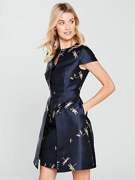 ted-baker-dragonfly-jacquard-dress-dark-bluenbsp