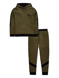 8bc71e2937 V by Very Boys Epic Vibes Skinny Fit Fashion Jog Set - Black Khaki