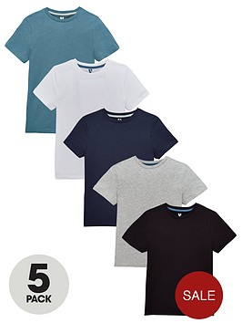 v-by-very-boys-5-pack-t-shirts-blues-multi