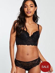 v-by-very-lace-short-black