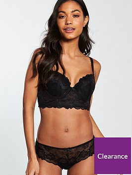 v-by-very-lace-short-black