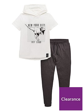 v-by-very-boys-2-piece-make-noise-short-sleeve-hooded-tee-and-joggers-set-grey