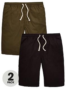 v-by-very-boys-2-pack-woven-shorts-blackkhaki