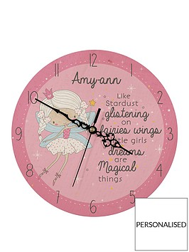 personalised-wooden-fairy-clock