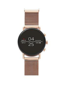 skagen-skagen-full-dipslay-rose-gold-stainless-steel-mesh-strap-ladies-smart-watch