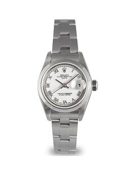 rolex-pre-owned-white-roman-numeral-datejust-dial-stainless-steel-bracelet-ladies-watch-79160
