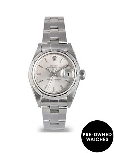rolex-pre-owned-silver-baton-datejust-dial-stainless-steel-bracelet-ladies-watch-69190
