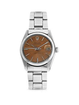rolex-pre-owned-midsize-oysterdate-salmon-dial-stainless-steel-bracelet-watch-6466