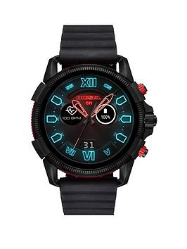 diesel-diesel-full-guard-25-black-and-red-display-black-silicone-strap-mens-smart-watch
