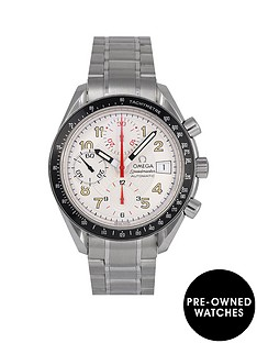 omega-pre-owned-speedmaster-reduced-date-mark-40-silver-dial-stainless-steel-mens-watch-351333
