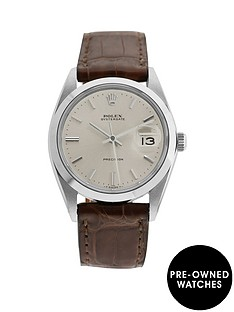 rolex-pre-owned-oysterdate-balck-dial-stainless-steel-bracelet-mens-watch-6694
