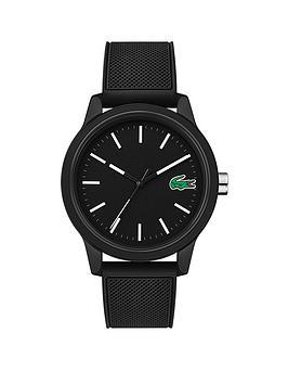 Lacoste Lacoste Lacoste 12.12 Black Dial Black Fabric Strap Mens Watch Picture
