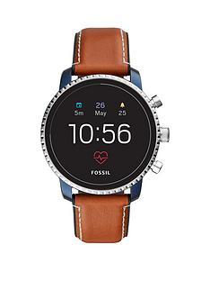 fossil-q-explorist-gen-4-full-display-with-blue-ip-and-brown-leather-strap-mens-smartwatch