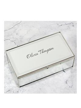 Very Personalised Glass Mirrored Jewellery Box Picture